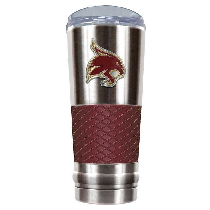 Texas State Bobcats 24-Ounce Draft Stainless Steel Tumbler, Multicolor