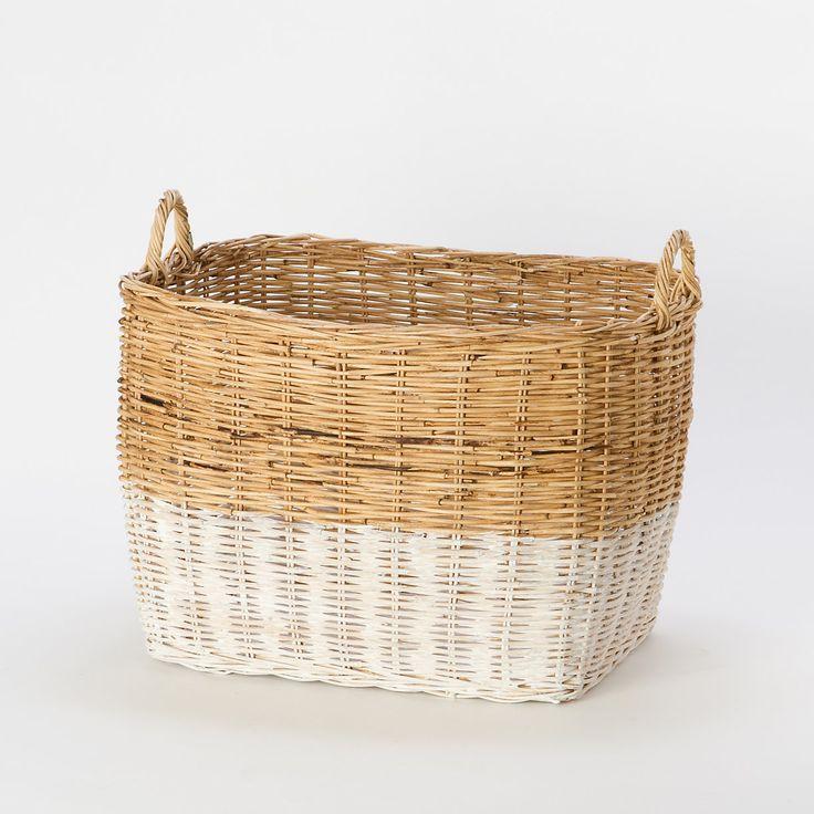 Terrain Colorblock Wicker Basket