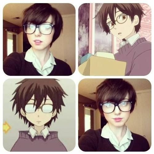 "cool ""Kiss kiss fall in love!"" Haruhi Fujioka closet cosplay! ^_^..."