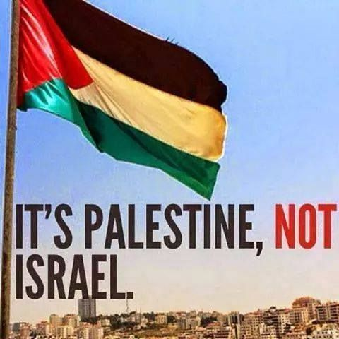 Because Palestine is a country, but Israel is a man. Will be free Palestine from the river to the sea