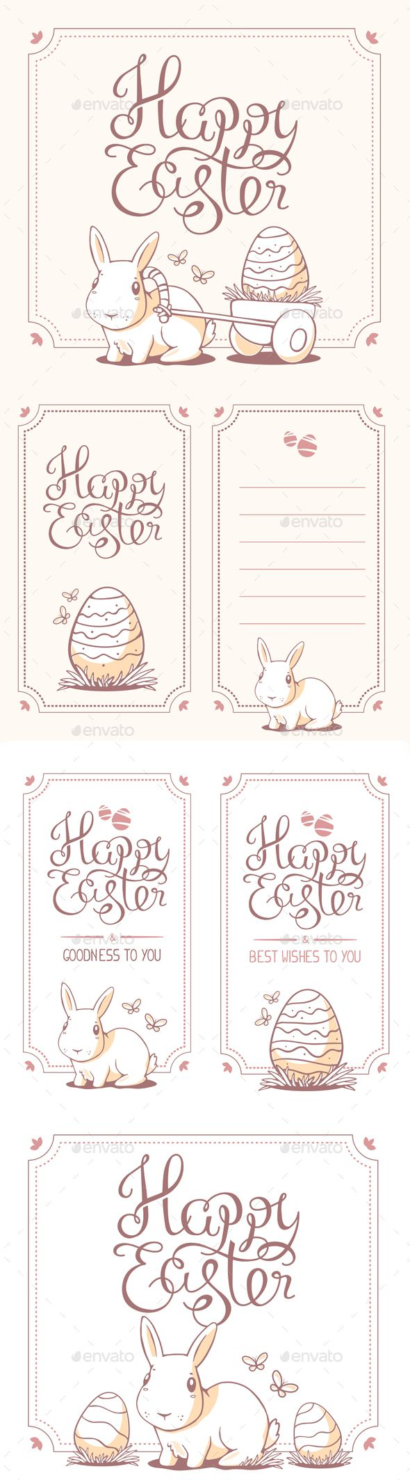 Collection of Happy Easter Greeting Cards