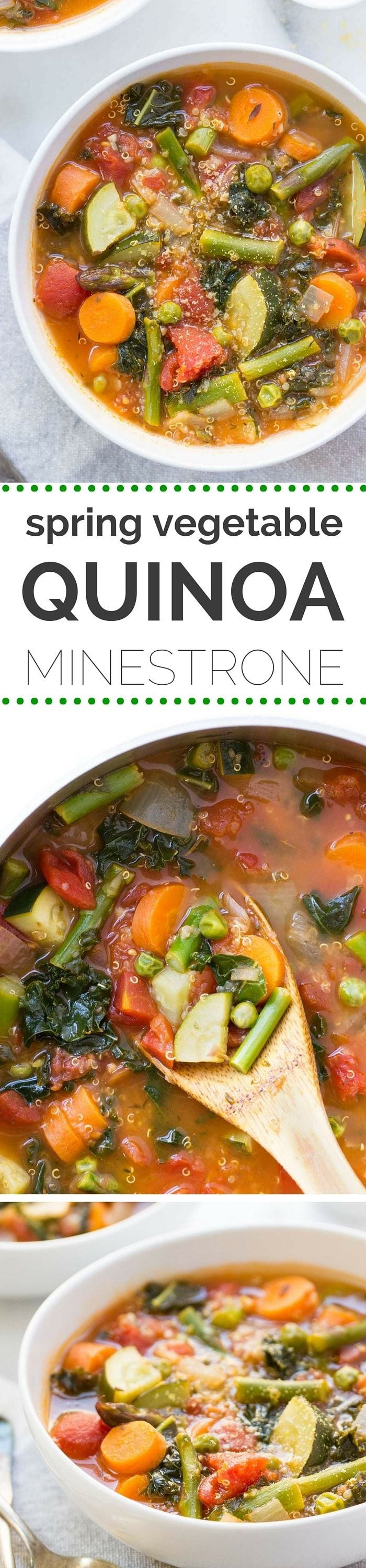 Need a quick weeknight meal? Try this QUINOA MINESTRONE! It's power packed, healthy and super easy to make! [vegan]