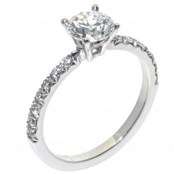 18ct White Gold Diamond Engagement Ring - James Thredgold