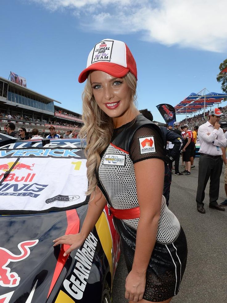 Sunday at the Clipsal 500   Clipsal grid girl Brittany with Jamie Whincup's car. Photo: Campbell Brodie. | The Advertiser -Viva Auto Repairs