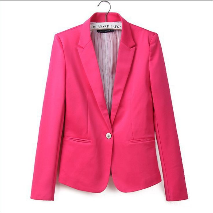 Global explosion models one buckle female jacket European style candy-colored suit jacket Slim Jacket Women