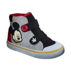 Target-Toddler Boy's License Mickey Mouse Hi-Top Shoe - Gray (He does love