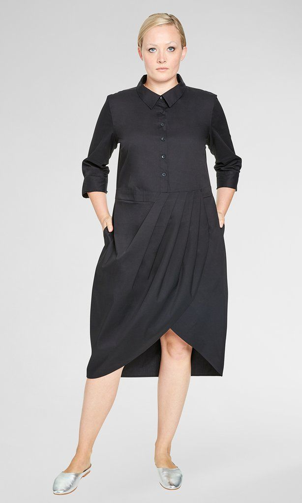 The Danielle Shirt Dress - Black - Womens Plus Size | | Universal ...