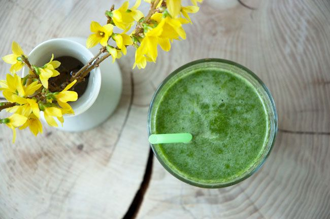 Grøn juice - sød og fyldt med gode sager