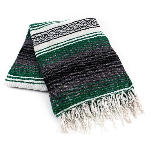 Cinco de Mayo Decorations Emerald Mexican Blanket Image