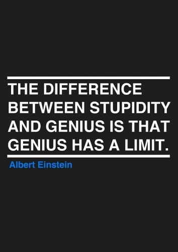 difference between stupid and genius