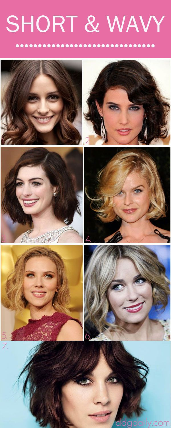 Short & Wavy Hair: A DDG Moodboard full of chic cropped tresses