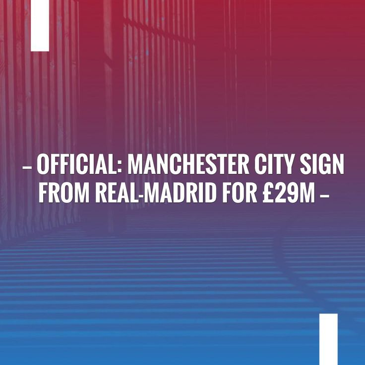 New on my blog! Official: Manchester City sign from Real-Madrid for £29m http://sportstribunal.com/epl-news/transfers-epl/official-manchester-city-sign-from-real-madrid-for-29m/?utm_campaign=crowdfire&utm_content=crowdfire&utm_medium=social&utm_source=pinterest
