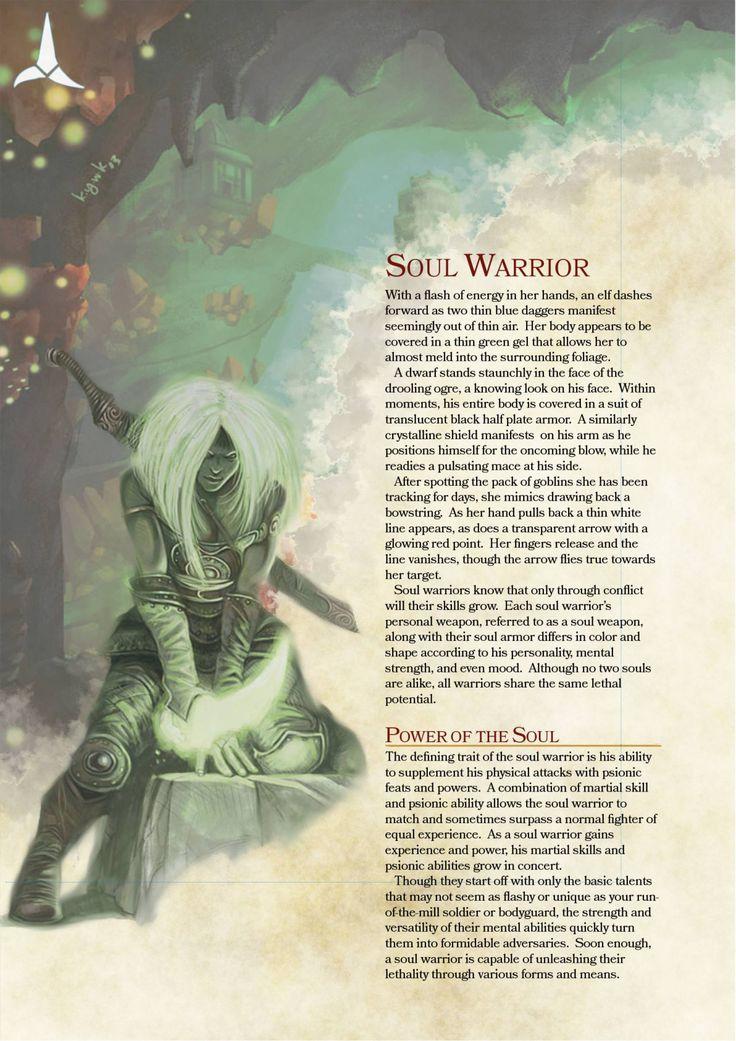 DnD 5e Homebrew — Soul Warrior Class
