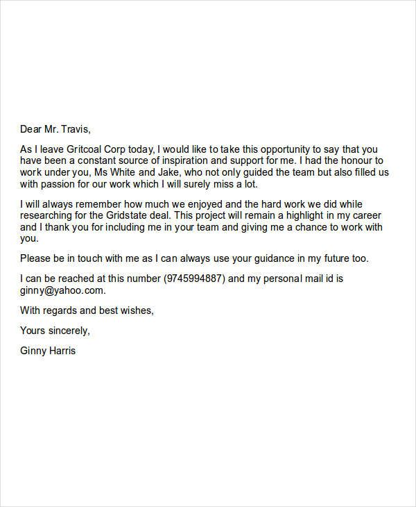 Farewell Email - Sample email Finally, here is a sample email that