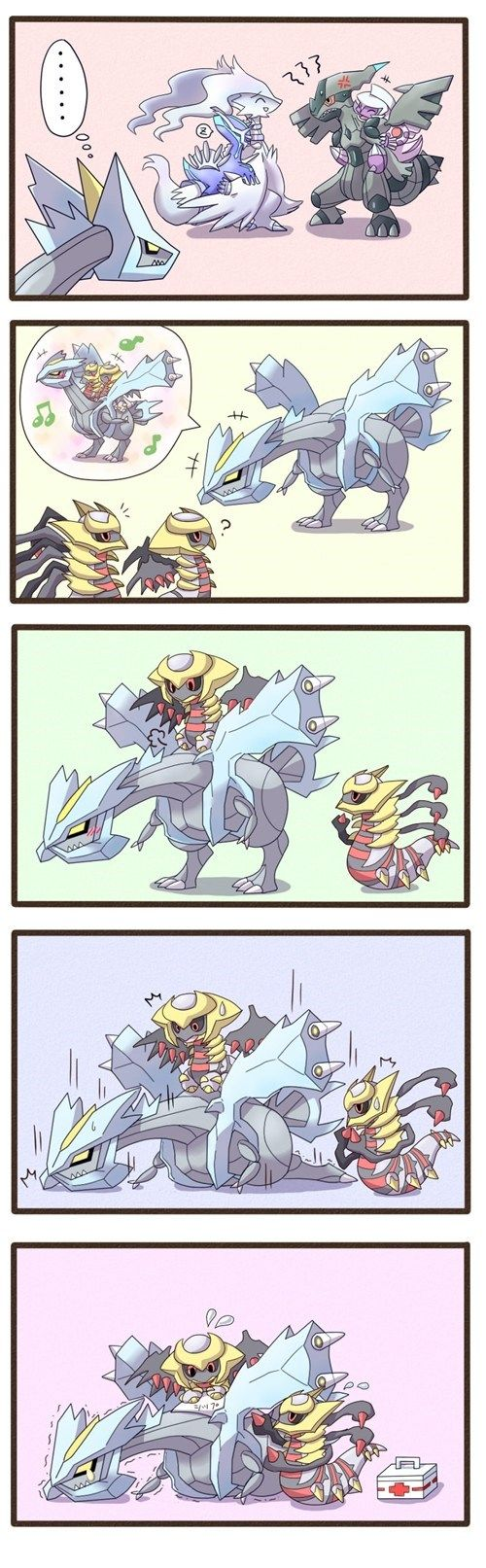 Poor Kyurem #Tao trio brothers #creation trio brothers