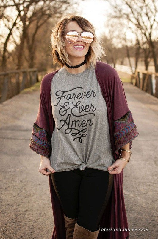 Forever & Ever - Holiday Southern T-Shirt//$24