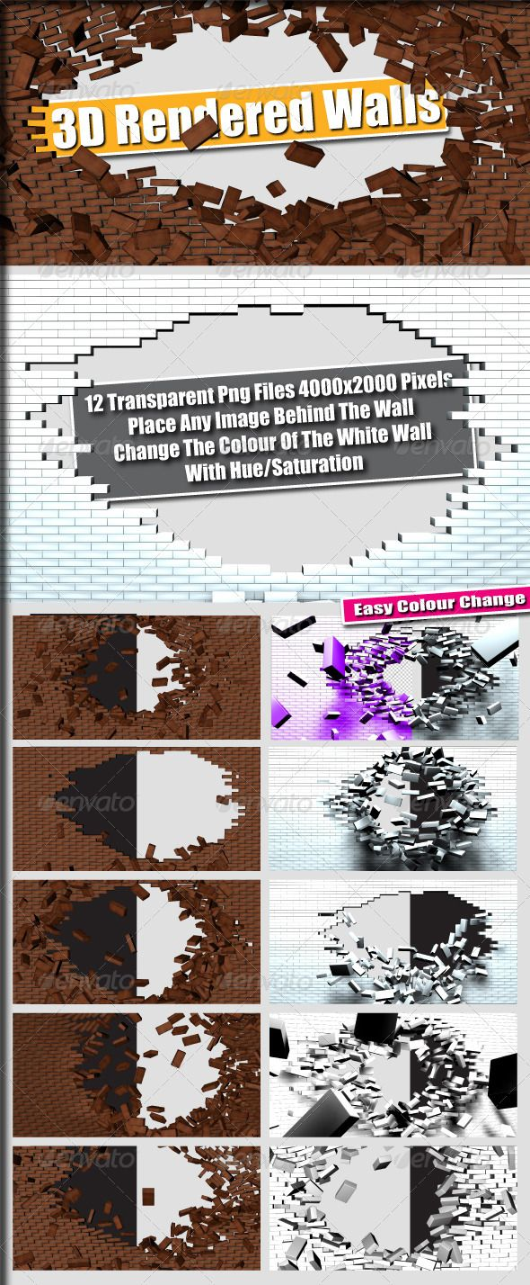 3D Rendered Transparent Brick & White Walls  #GraphicRiver         12 3D Rendered Brick & White Wall Transparent Png Files   4000×2000 Pixels   Place Any Image Behind The Walls   Change The Colour Of The White Walls With Hue/Saturation   Great For Posters, Flyers, Print Etc…..     Created: 10October11 GraphicsFilesIncluded: TransparentPNG #TransparentPNG Layered: No MinimumAdobeCSVersion: CS PixelDimensions: 4000x2000 Tags: 3d #brick #flyer #modern #png #poster #print #transparent #walls