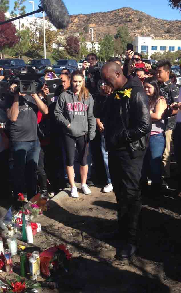 Tyrese Sheds Tears at Fast and Furious Costar Paul Walker's Crash Site, Takes a Piece of the Wreckage With Him.