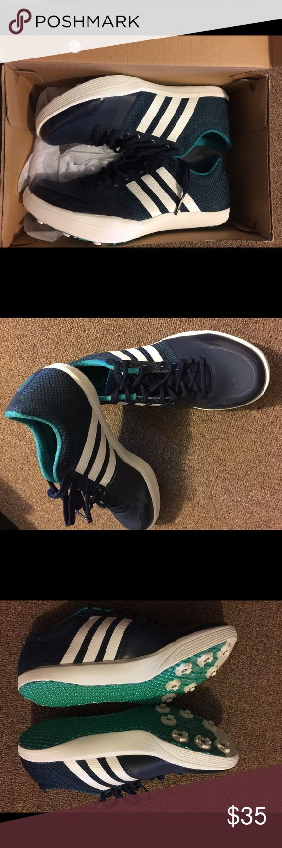 Long Jump Spikes Adizero Long Jump Spikes BRAND NEW!! Perfect for Track-Athletes! US size:6; UK: 5 1/2; FR: 38 2/3 Adidas Shoes Athletic Shoes