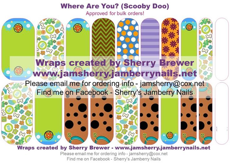 Scooby Doo Inspired. Patterned wraps represent Shaggy, Fred, Daphne & Velma, as well as the Mystery Machine