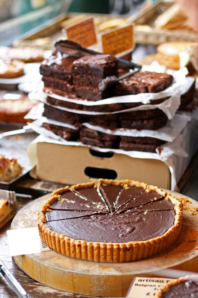 Borough Market Brownies, London. A lovely sweet treat full of sugars.