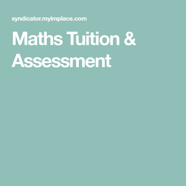 Maths Tuition & Assessment