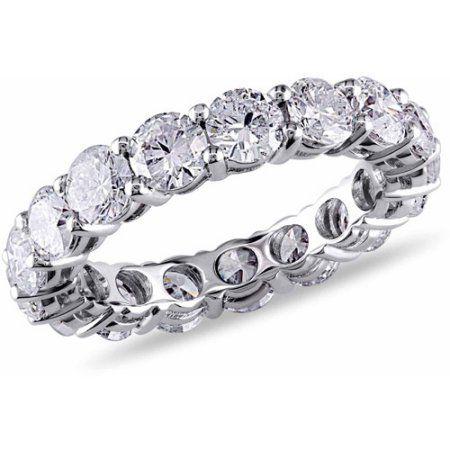 Miabella 3-3/4 Carat T.W. Diamond 18kt White Gold Eternity Ring, Women's, Size: 4.5