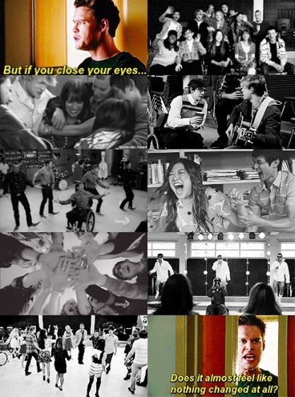 Life moves fast, just remember the people that really matter...That's what Glee's taught me.