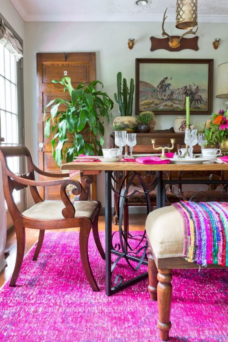 31 Smart And Beauty Bohemian Dining Room Decor Ideas Part 87