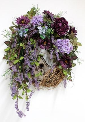 Sweet Purple, Luxury Front Door Wreath