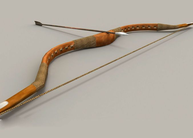 Archery Bow | 3D model | weapon in 2019 | Archery, Low poly models, Bows