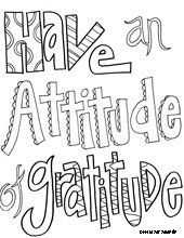 doodle art alley awesome site with free inspirational quote coloring pages these are for thankfulness have an attitude of gratitude