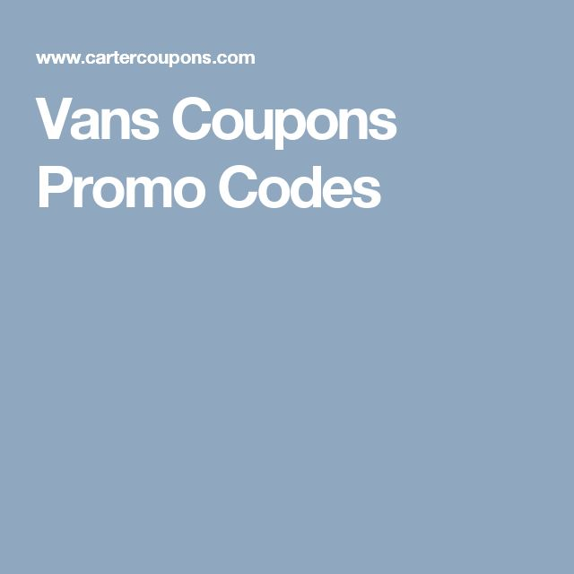 Vans Coupons Promo Codes