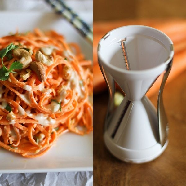 5 large carrots, peeled and spiraled into noodles 1/3 cup roasted cashews 2 tablespoons fresh cilantro, finely chopped For the Ginger-Lime P...