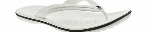 Crocs White Crocband Flip Sandals A croslite material, womens toe post by Crocs. Super lightweight sandal which offers a cushioned footbed and slip resistant, non marking soles. A truly comfortable and flexible sandal that captures th http://www.comparestoreprices.co.uk/womens-shoes/crocs-white-crocband-flip-sandals.asp