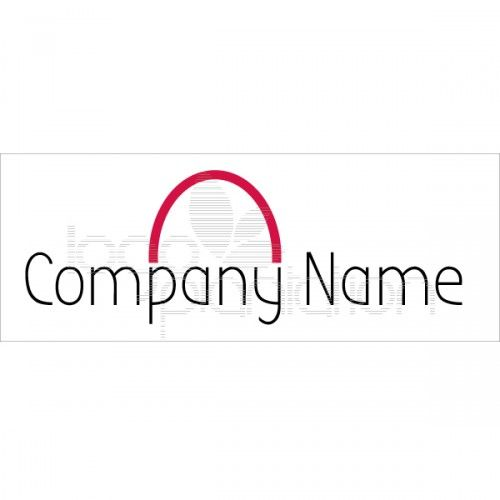 This logo is of half a semi-cirlce. Located above the company name. The logo is supplied with Open Source Google Fonts. The file formats provided are JPG and EPS. See more at http://www.logoplantation.com/shop/semi-circle/