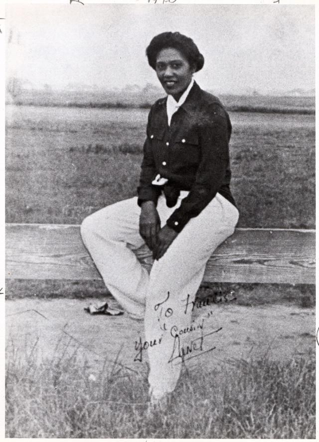 Janet Waterford Bragg. Earned a degree in nursing from Spellman, enrolled in the Curtiss Wright Aeronautical School where she was the only female in an aircraft mechanics class of 24 black males. Did postgrad at Loyola & the U. of Chicago while working as a nurse to save money to buy 1st of 3 planes. Passed the flight test at Tuskegee black pilot training but was denied the commercial pilot license. Tried to join WASPs during WWII but rejected because of race.