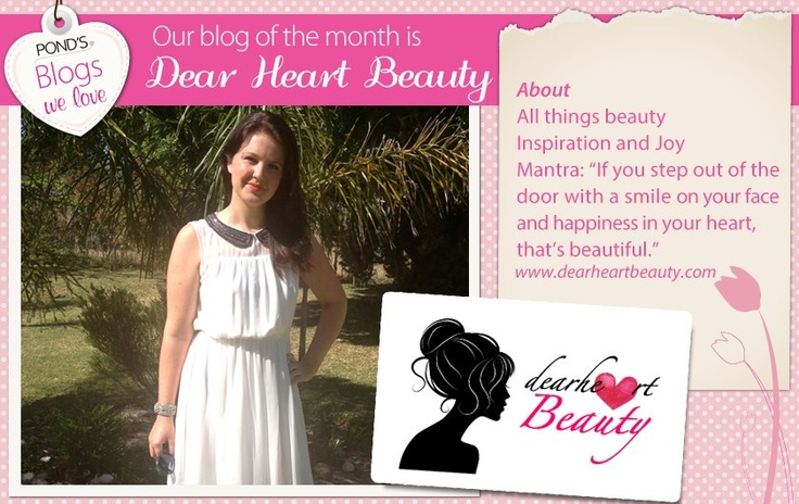 Our #Blog of the Month is Dearheart Beauty. We love their beauty mantra! www.dearheartbeauty.com