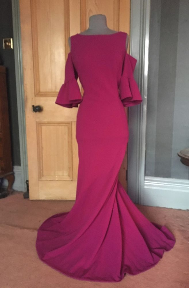c0dd88f249 GORGEOUS ADRIANNA PAPELL LONG MAGENTA COLD SHOULDER EVENING DRESS SIZE 18  #fashion #clothing #shoes #accessories #womensclothing #dresses (ebay link)