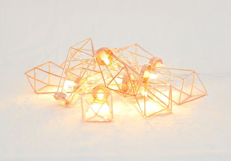 Copper Geometric string hanging lights.  Approx 1metre long. Battery operated, string from trees or lay or hang along your bridal table or wishing well table. $10 a set or $30 for the set of 4. We have 4 sets. Contact theweddingandeventcreators@gmail.com for bookings Photo;Shenay Spinelli Photography