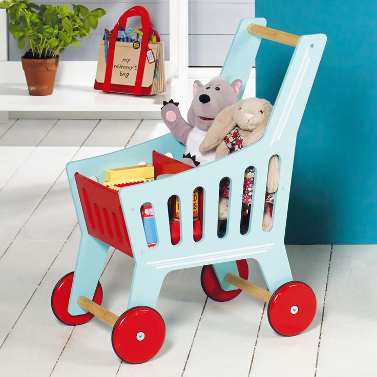 wooden shopping trolley toy 3