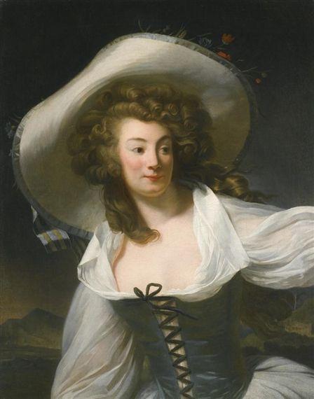 Artwork by Henri-Pierre Danloux, PORTRAIT OF THE ARTIST'S WIFE MARIE PIERRETTE ANTOINETTE DANLOUX, NÉE ..., Made of oil on canvas