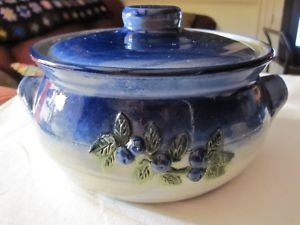Blueberry Decorated Ceramic Bean Pot Lid