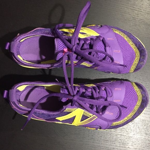 New Balance Minimus Yellow and purple New Balance Minimus shoes. Size 7. Great condition. New Balance Shoes Athletic Shoes