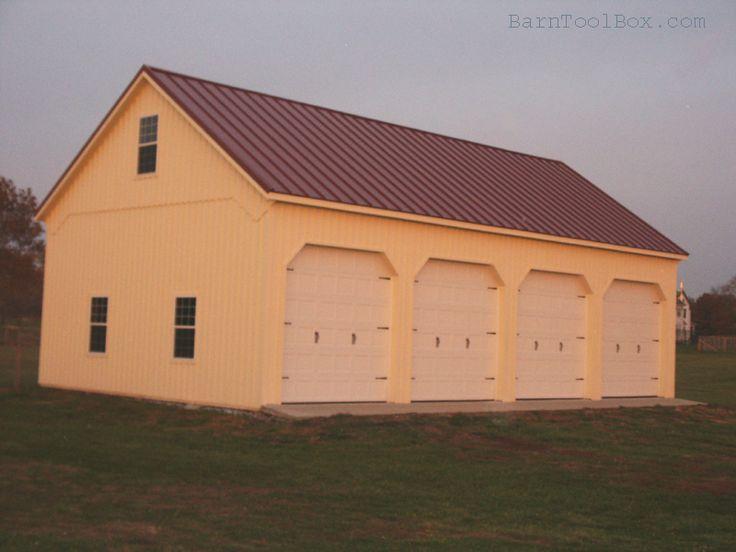 Simple pole barn barns pinterest simple building for Simple pole barn house plans
