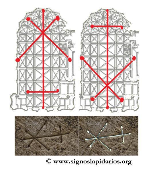 Catedral de Tortosa, Tarragona. Foro del proyecto SIGNO. La hipótesis de las marcas de trazado. http://www.signoslapidarios.org/inicio/forum/signos-lapidarios-y-arquitectura