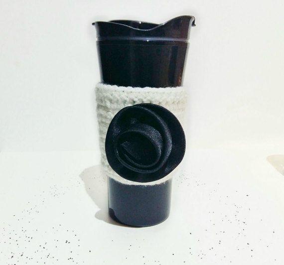 CIJ Sale  Bride Coffee Cozy  Crochet Coffee Cozy  by AichasDesigns