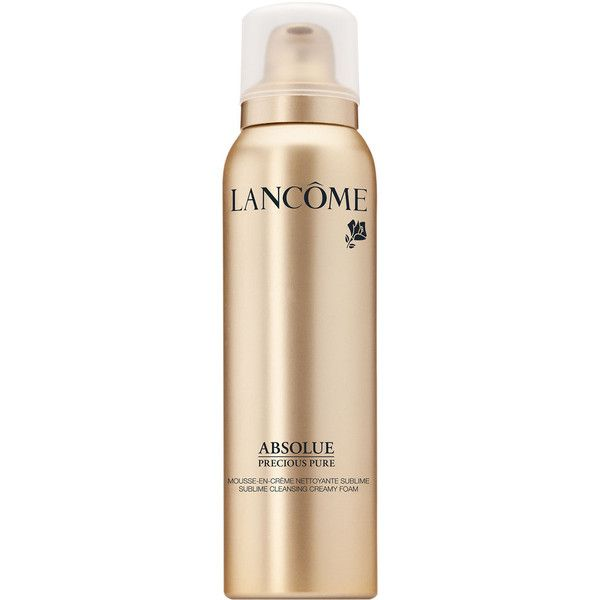 Lancome Absolue Precious Pure Sublime Cleansing Creamy Foam found on Polyvore featuring beauty products, skincare, face care, face cleansers, lancome face wash, lancome face cleanser, lancome facial cleanser and lancôme