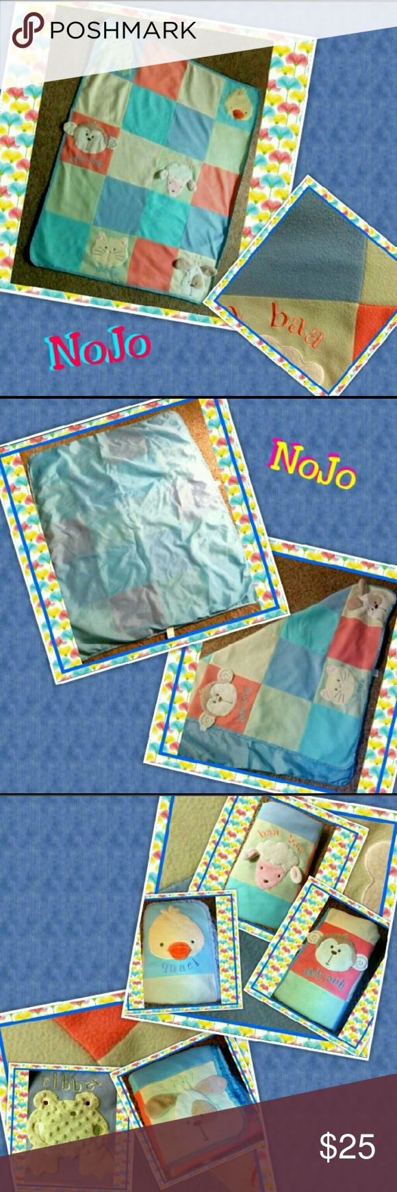 "🐥 40x50 NoJo Animal Sensory Activity Mat 🐥 40""x50"" NOJO Plush Duck Lamb Puppy Frog Activity Toddler Bed Comforter Blanket From a Set NoJo 40"" x 50"" Soft Fleece Animal Sensory Rattle Activity Play Mat Baby Blanket  Brand: NoJo Material: 100% Polyester Color: Blue, Green, Coral/Peach, Purple Type: Blanket Gender: Unisex Size: 40"" x 50"" Theme: Sensory  Model: Baby Throw Activity, Noise, Touch Blanket. Good to Fair Condition for pre-owned. NoJo Nojo nojo Other"