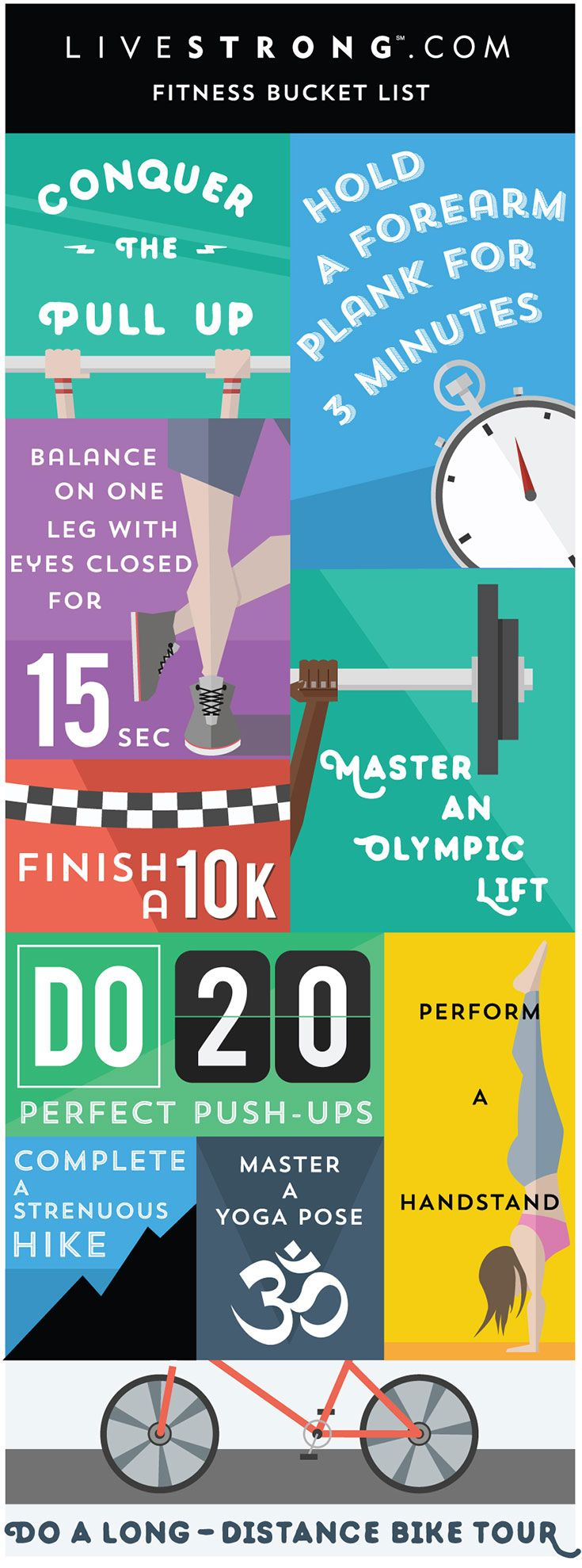 The ultimate fitness bucket list to fire you up!